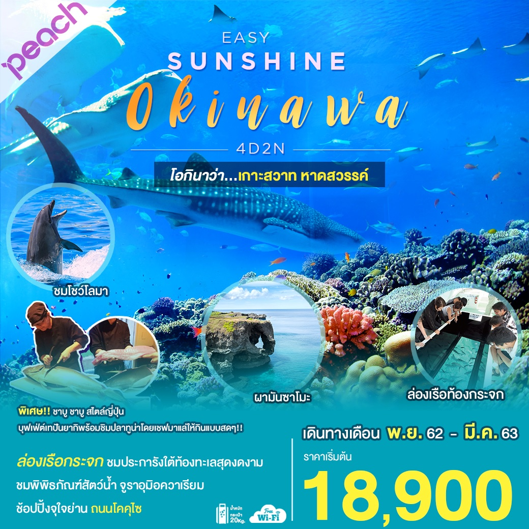 EASY SUNSHINE OKINAWA 4D2N (NOV'19-MAR'20)